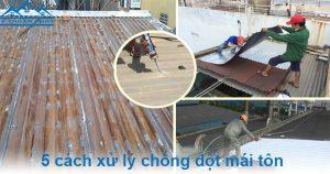 Chia sẻ 5 cách xử lý chống dột mái tôn